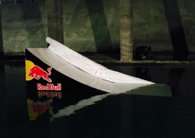 Red Bull Schanze für Werbespot